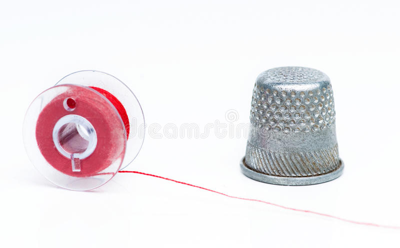 Download Spool and thimble stock image. Image of sewing, steel - 29080949