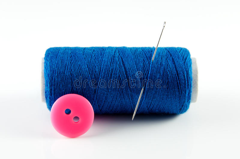 Download Spool of thread and button stock image. Image of clothing - 26441095