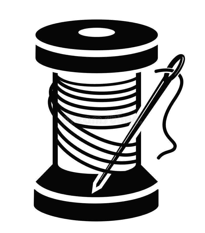 Download Spool of thread stock vector. Illustration of draw, rope - 36758026