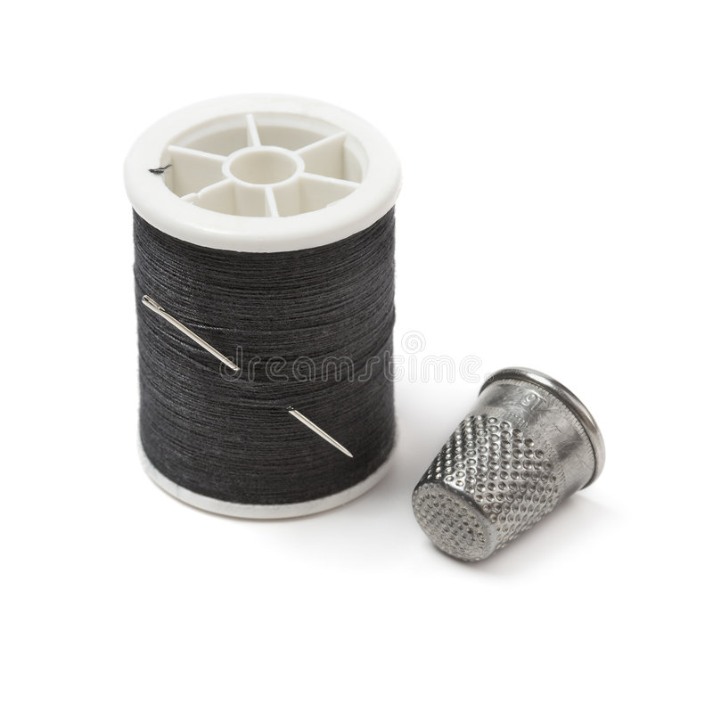 Download Spool Of Thread, Needle And Thimble Stock Image - Image: 8552741