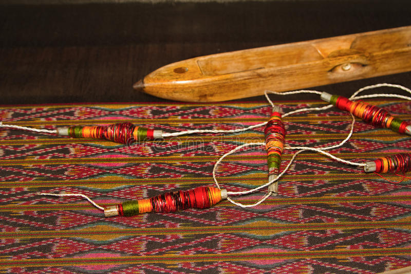 Download Spool Of Thread And Wooden Bobbin Thai Traditional Cloth Weavin Stock Image - Image: 33605969