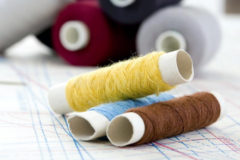 Download Spools stock image. Image of sewing, colours, isolated - 10793415