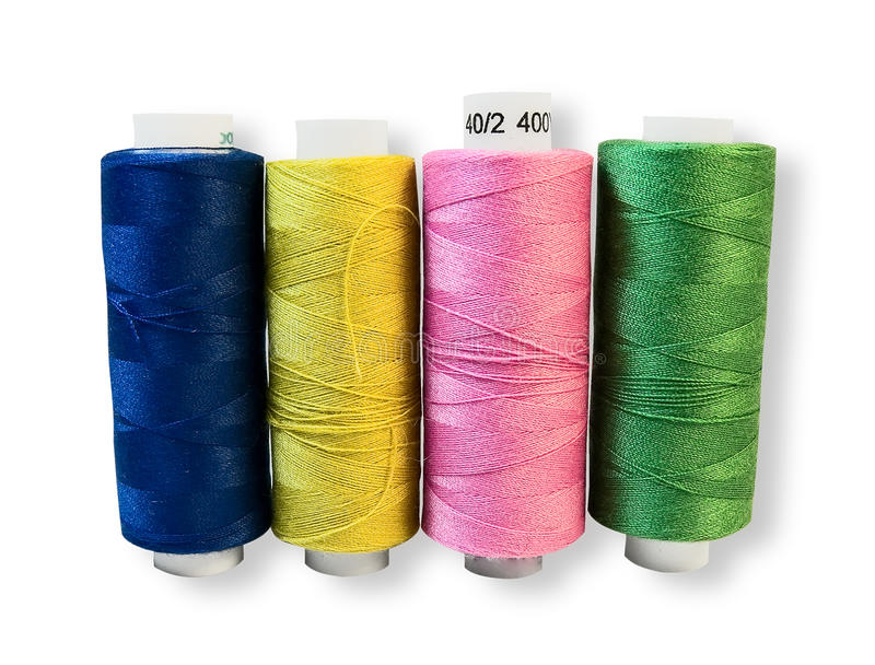 Download Spools of thread. stock image. Image of sewing, ball - 12432861
