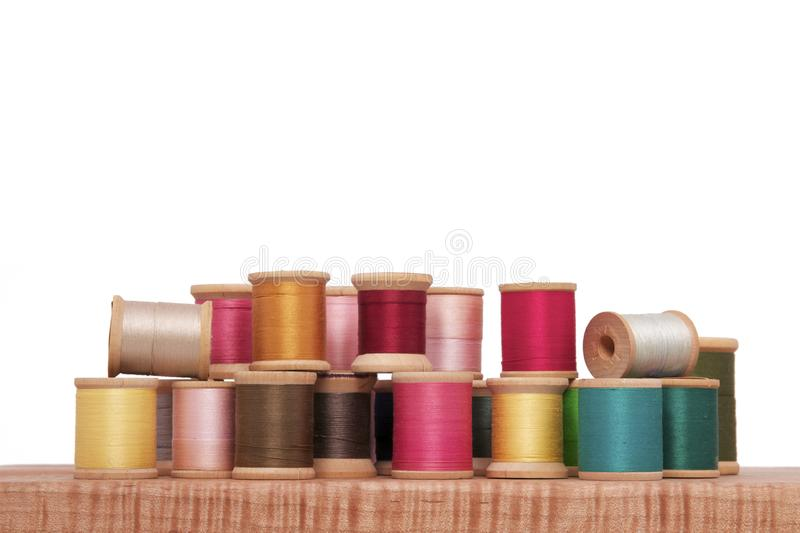 Download Spools of Thread stock image. Image of close, material - 16814477