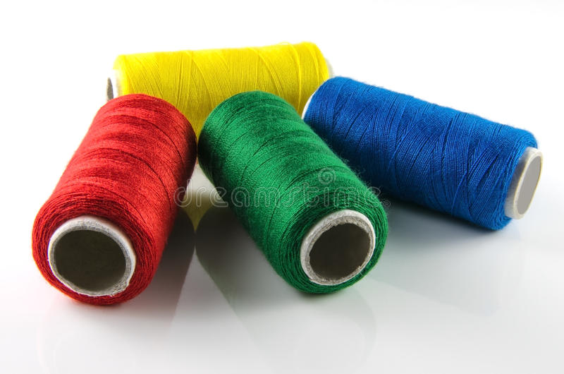 Download Spools of thread stock image. Image of cylinder, equipment - 26474947