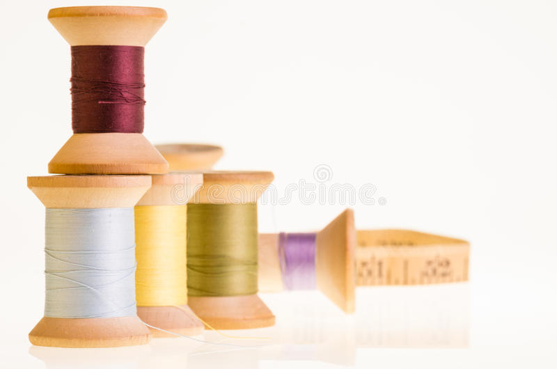 Download Spools Of Thread And A Measuring Tape Stock Photos - Image: 29020303