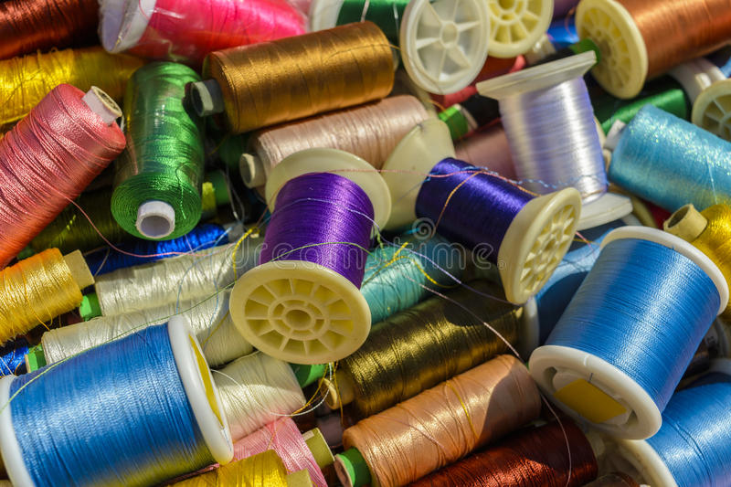 Download Spools of thread stock image. Image of group, fibre, green - 53099151