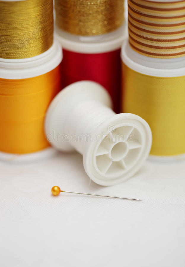Download Spools Of Tread With Needle Stock Image - Image: 18202491