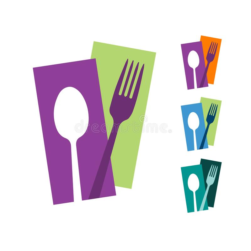 Free Spoon And Fork Abstract Logo Vector Graphic Food Icon Symbol For Cooking Business Cafe Or Restaurant Royalty Free Stock Photography - 158042907