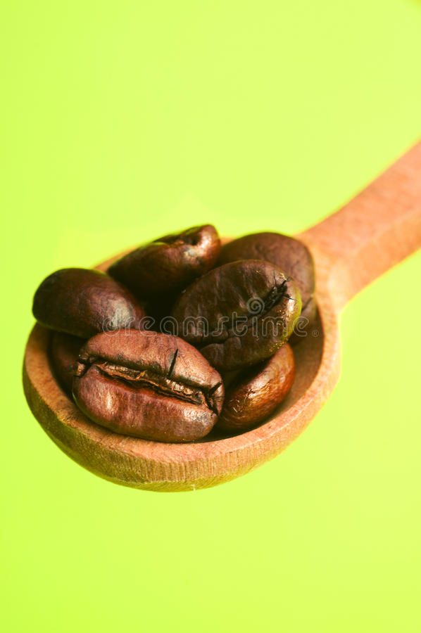 Download Spoon of coffee bean stock photo. Image of close, bean - 22563338