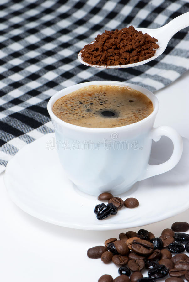 Download Spoon and Cup of coffee stock photo. Image of froth, outline - 11165856