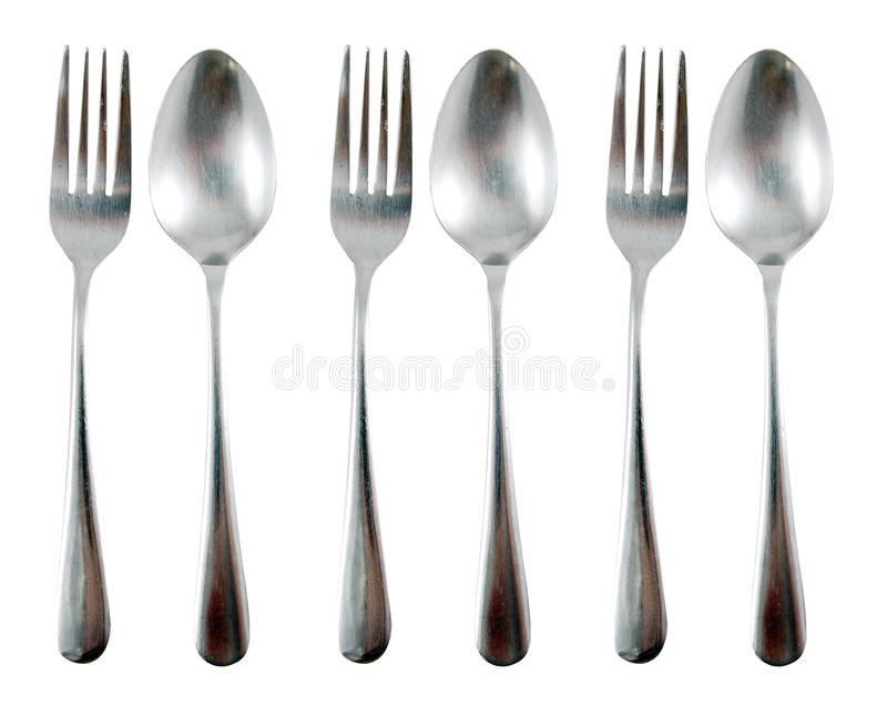 Download Spoon and fork stock photo. Image of food, white, stainless - 23440266