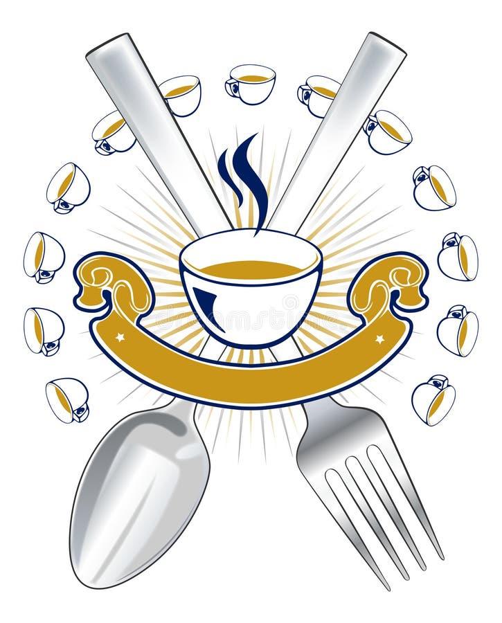 Download Spoon fork emblem stock vector. Illustration of gold - 18937381