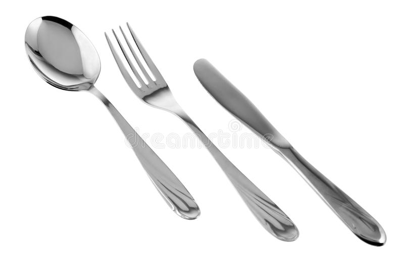 Spoon Fork Knife Stock Photo