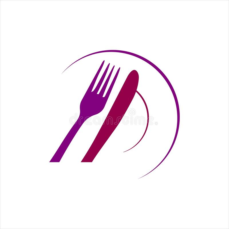 Spoon And Fork Logo Vector Illustration For Cafe Or ...