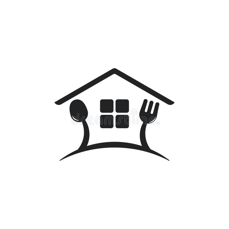 Spoon Fork Restaurant House Logo Vector Stock Vector ...
