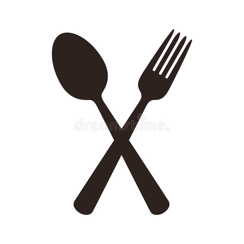 Spoon and fork sign. Spoon and fork. Gastronomy sign isolated on white background vector illustration