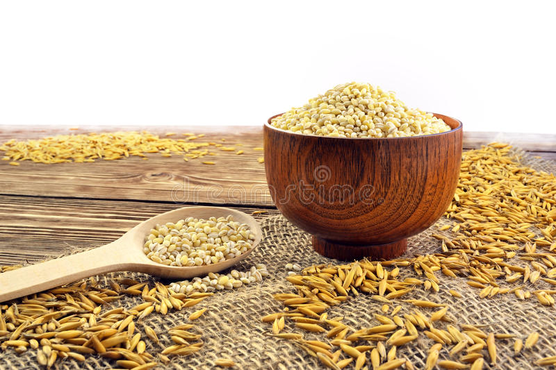 Spoon with grain stock photography