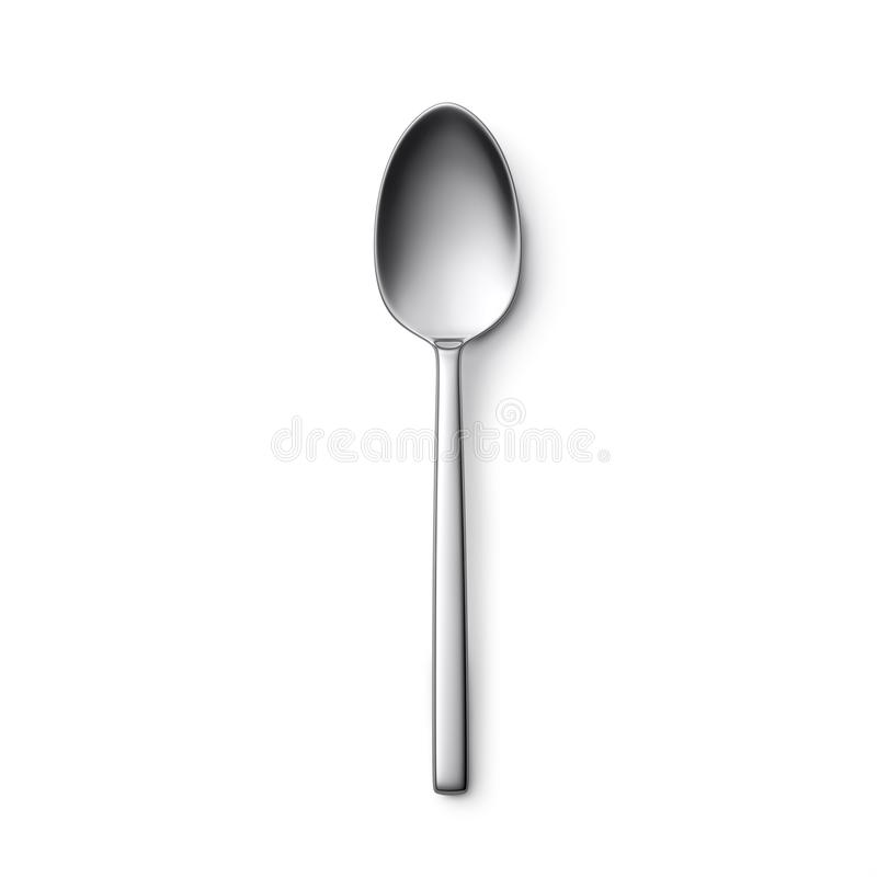 Spoon. Isolated on white background stock photography