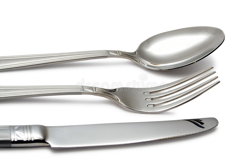 Spoon, knife, fork royalty free stock photo