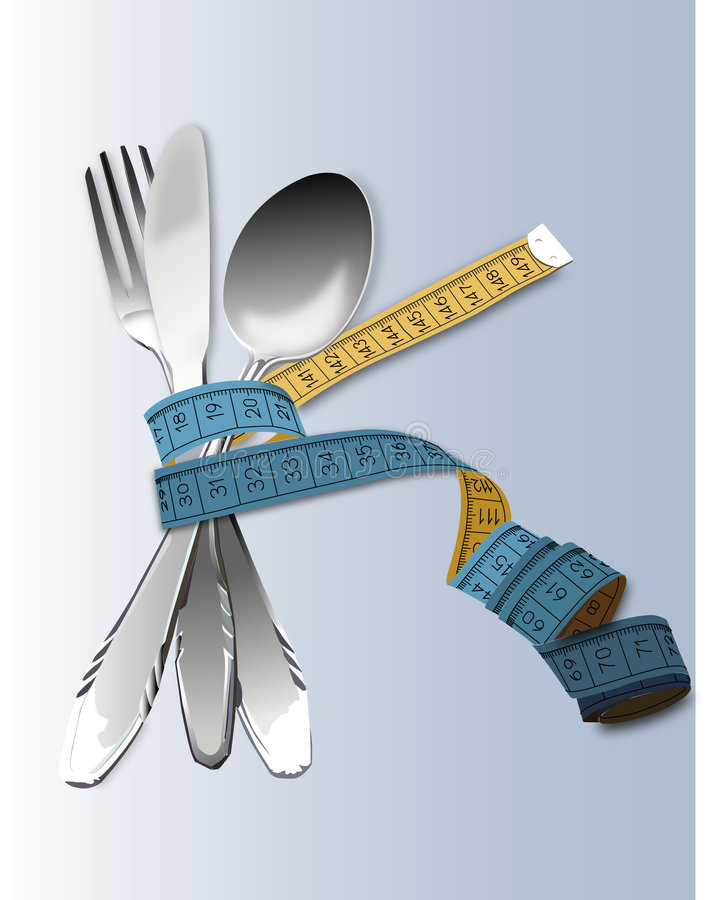 Download Spoon, knife and  fork stock illustration. Image of lifestyle - 5573549