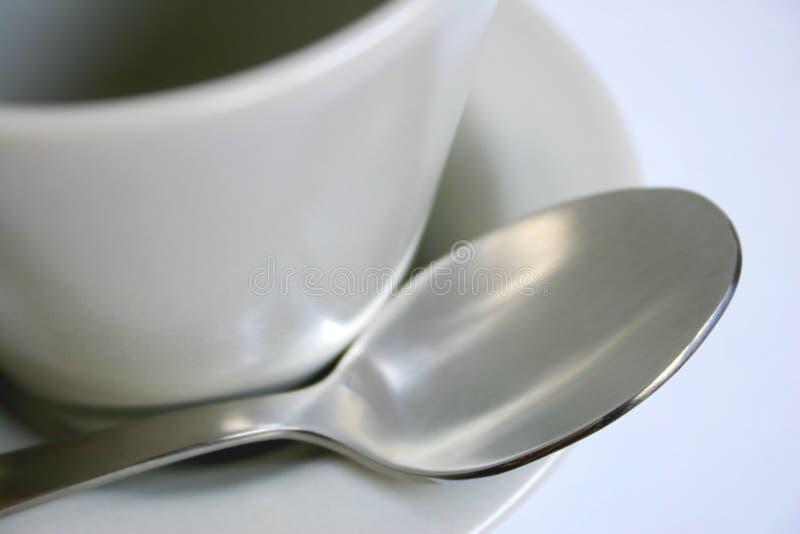spoon saucerand kubki obraz royalty free