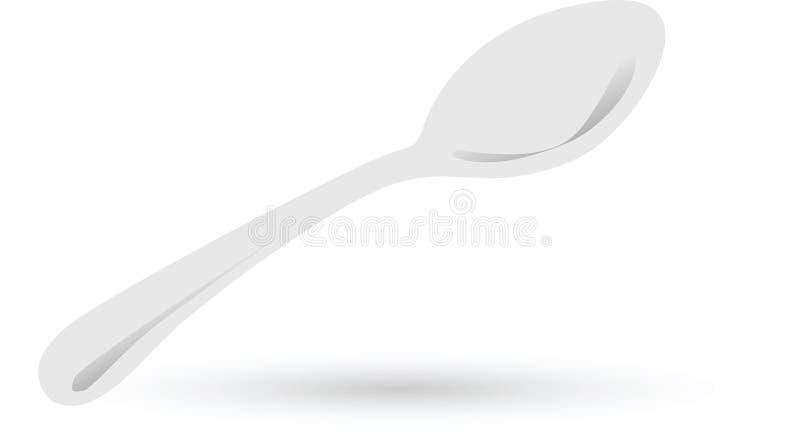 Spoon vector isolated. On white  illustration vector illustration