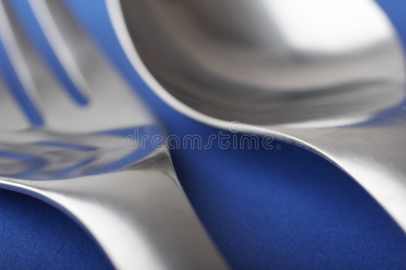spoon, widelec fotografia royalty free