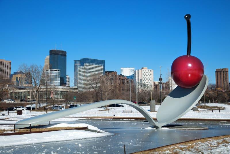 Spoonbridge and cherry in Minneapolis stock photo