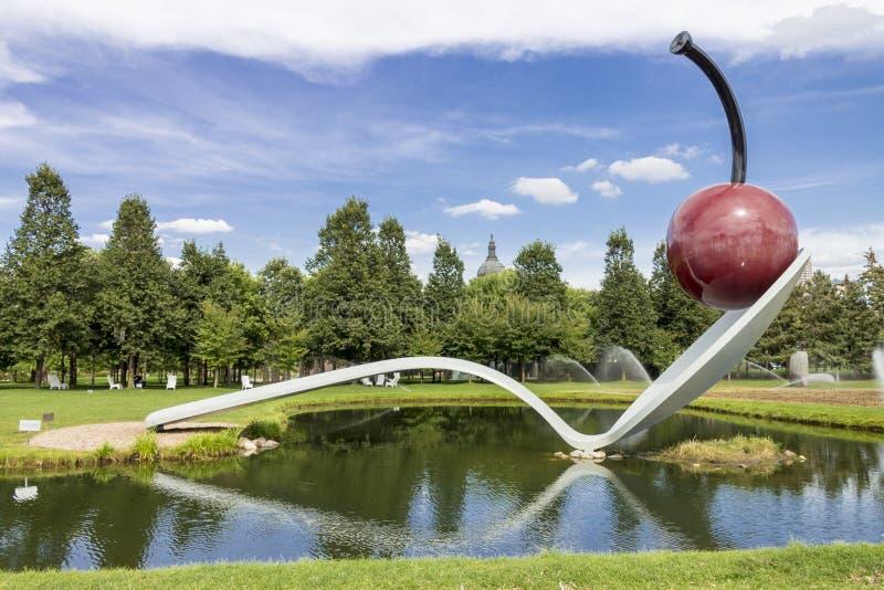 Spoonbridge and Cherry Minneapolis Minnesota stock image