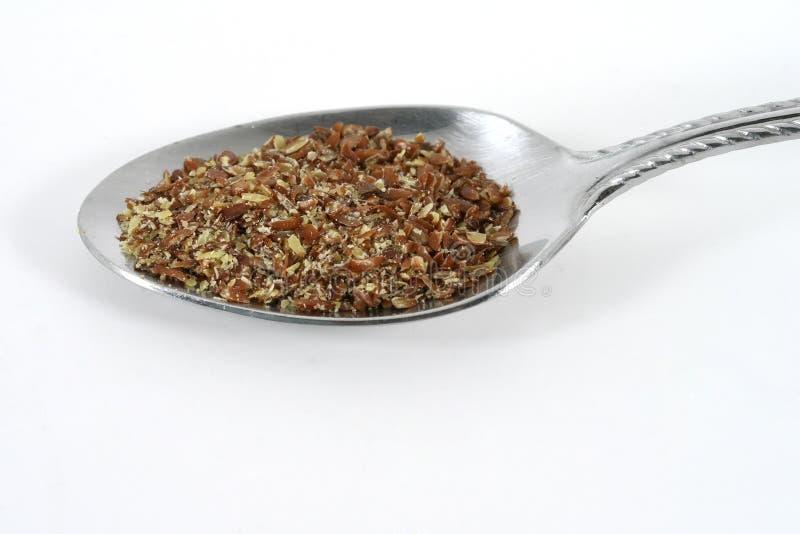 spoonful льна стоковое изображение
