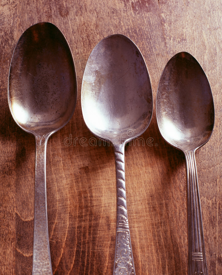 Spoons antique royalty free stock photography
