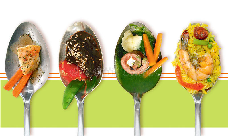 Download Spoons Foods stock image. Image of chicken, comida, spoons - 13676755