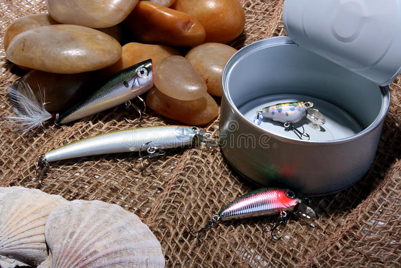 Spoons Hakenfischen lizenzfreies stockfoto
