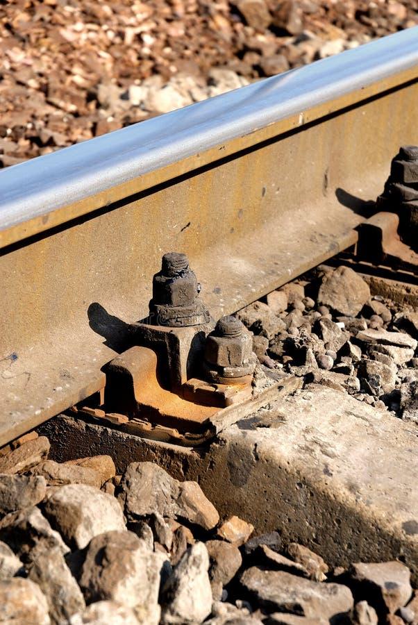 spoor en dwarsverbindingen stock afbeeldingen