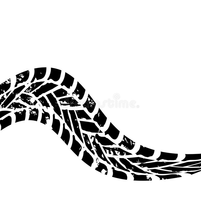 Spoor van de Grunge het zwarte band royalty-vrije illustratie
