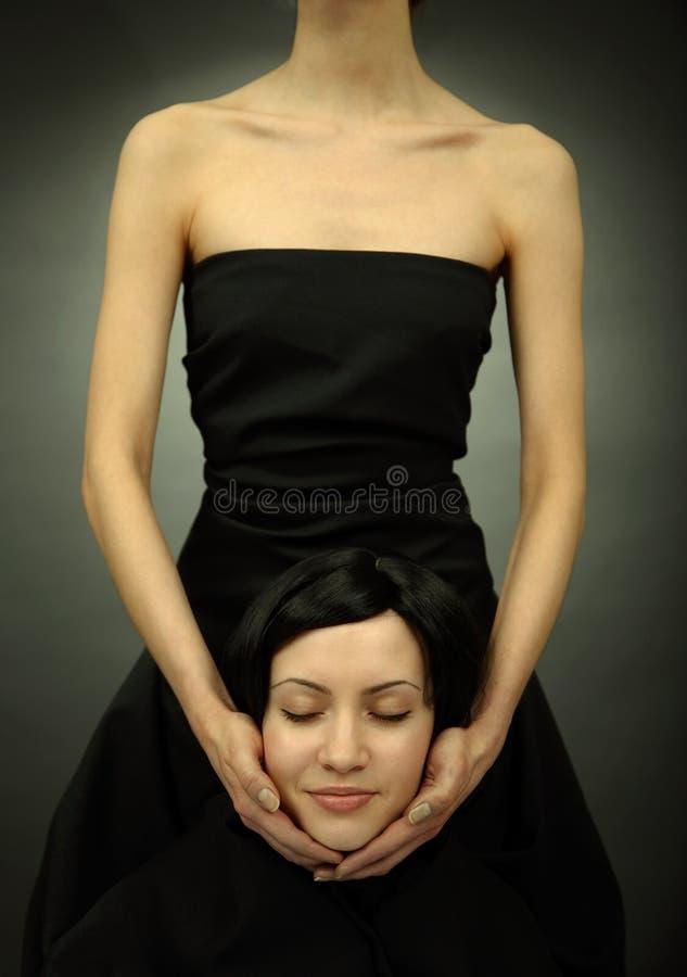 Spoor van mooie elegante vrouw stock afbeelding