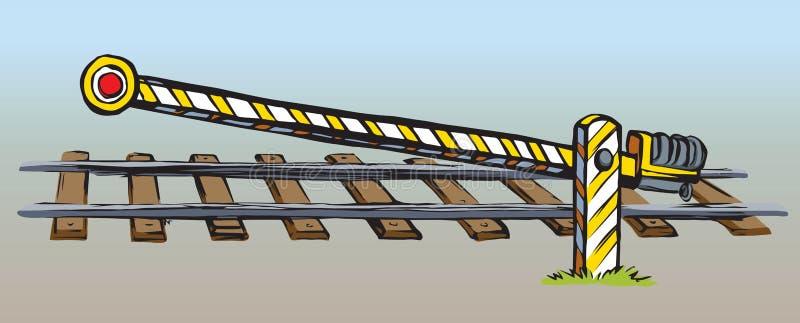 Spoorboom Vector tekening vector illustratie. Illustratie bestaande uit  grafisch - 148815843