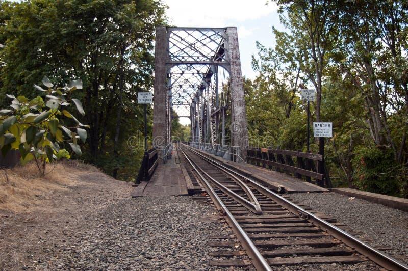 Spoorbrug royalty-vrije stock afbeeldingen