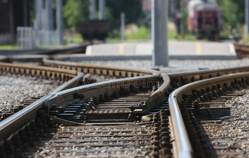 Spoorweg. royalty-vrije stock afbeelding
