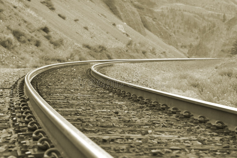 Download Spoorweg stock afbeelding. Afbeelding bestaande uit trein - 290709