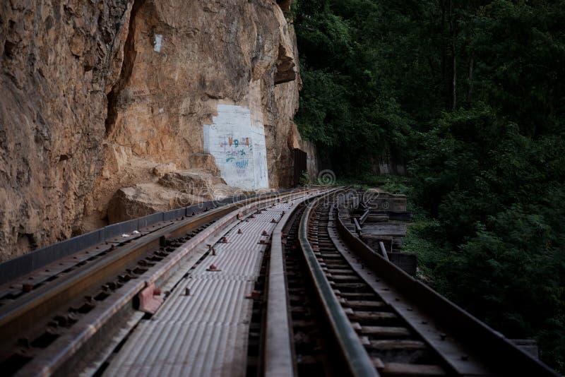 Spoorweg aan de wildernis stock fotografie