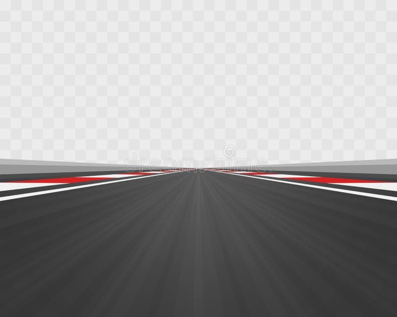Spoorweg aan oneindigheid, Weg vectorweg stock illustratie
