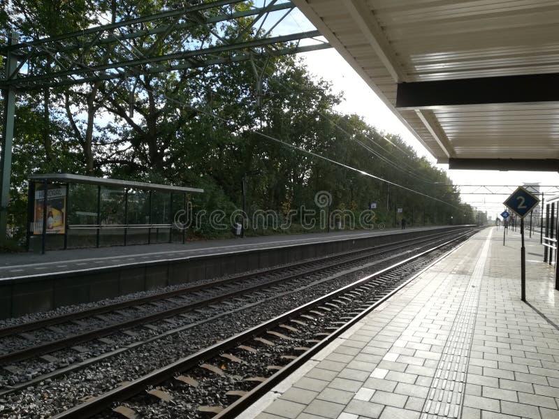 Spoorweg Den Hague stock afbeelding