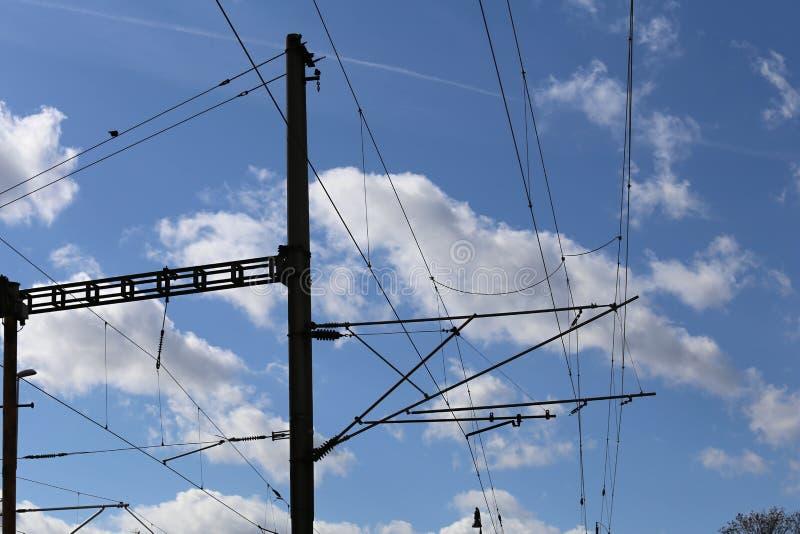 Spoorweg elektrische tractie royalty-vrije stock fotografie