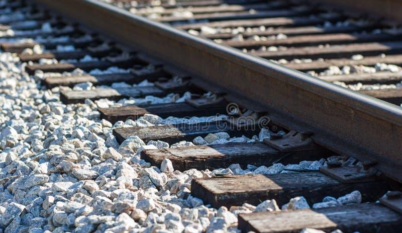 Spoorweg op de Rotsen stock afbeeldingen