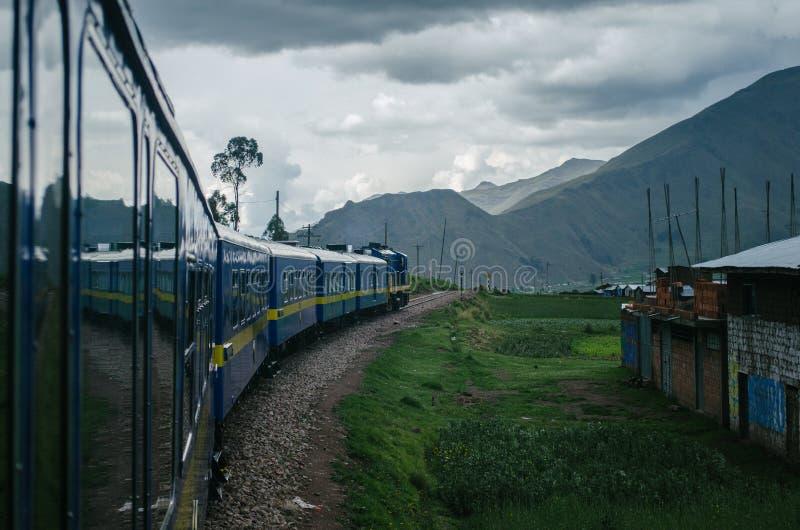 Spoorweg in Peru royalty-vrije stock afbeelding