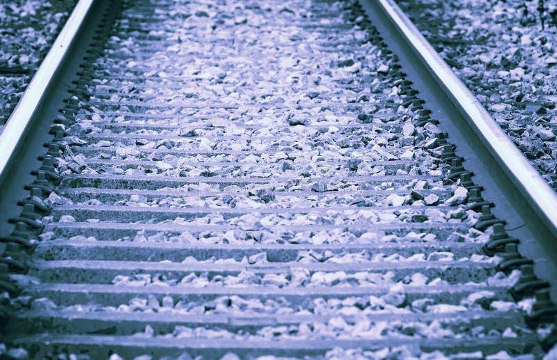Spoorweg - retro stijl gestemde foto stock foto's