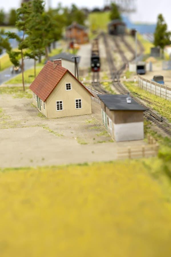 Spoorweg - stuk speelgoed stock foto