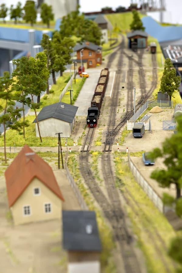 Spoorweg - stuk speelgoed royalty-vrije stock afbeeldingen
